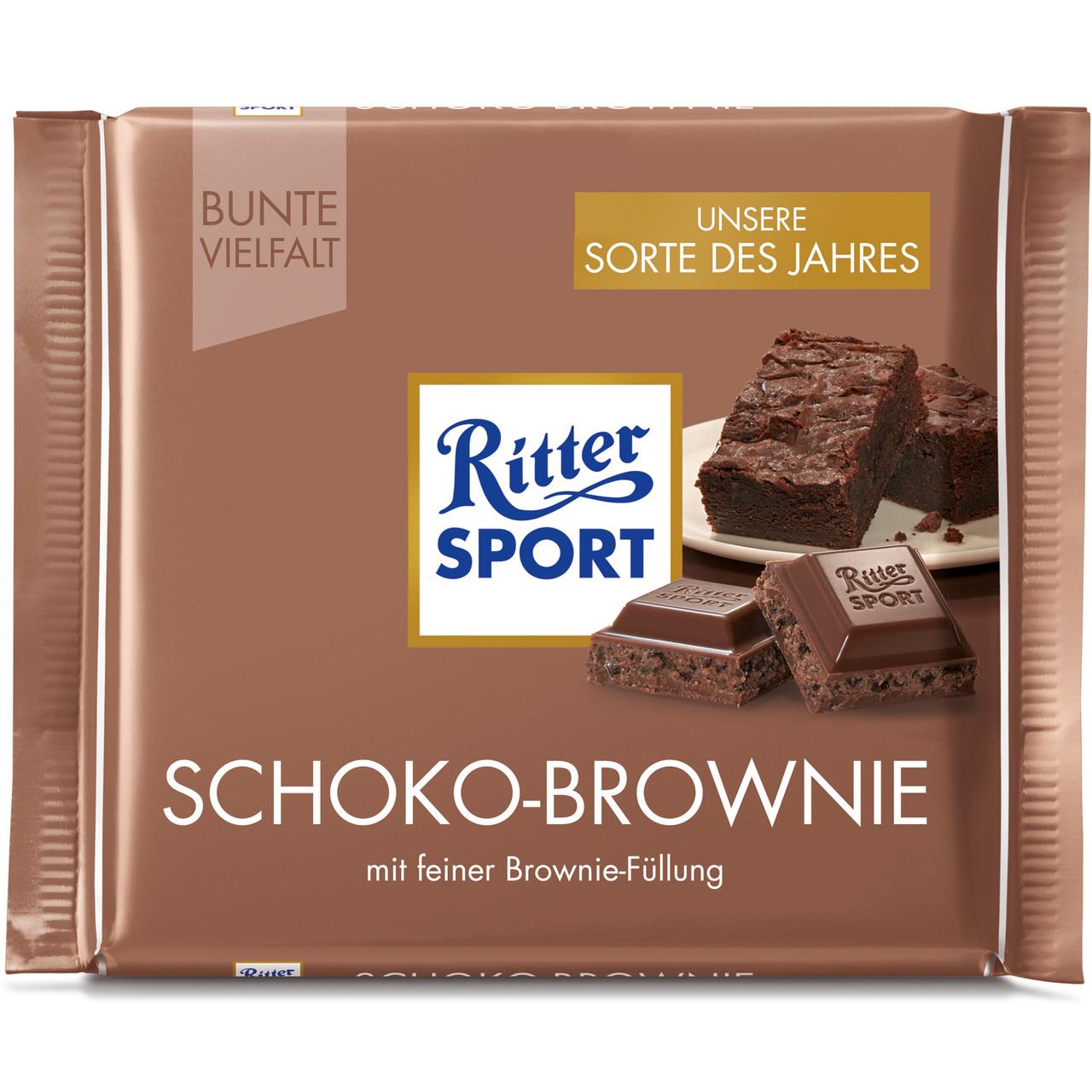 Шоколад Ritter Sport Schoko Brownie (Риттер Спорт), 100 г