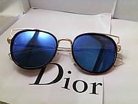 Модные солнцезащитные очки  Dior, синие