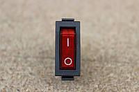 Кнопка переключатель клавишный узкий с подсветкой, 3pin 15A 220V