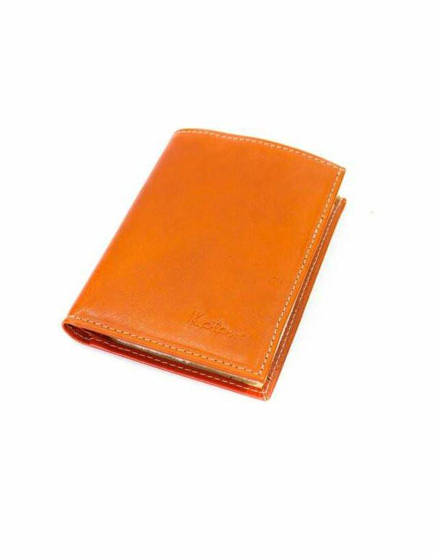 Кошелек кожаный катана женский оранжевый 853090.