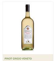 Вино PINOT GRIGIO VENETO  (Italia, Castelmarco ,  белое 1,5 L )