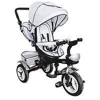 Детский трехколесный велосипед Turbo Trike M 3200-8A, белый