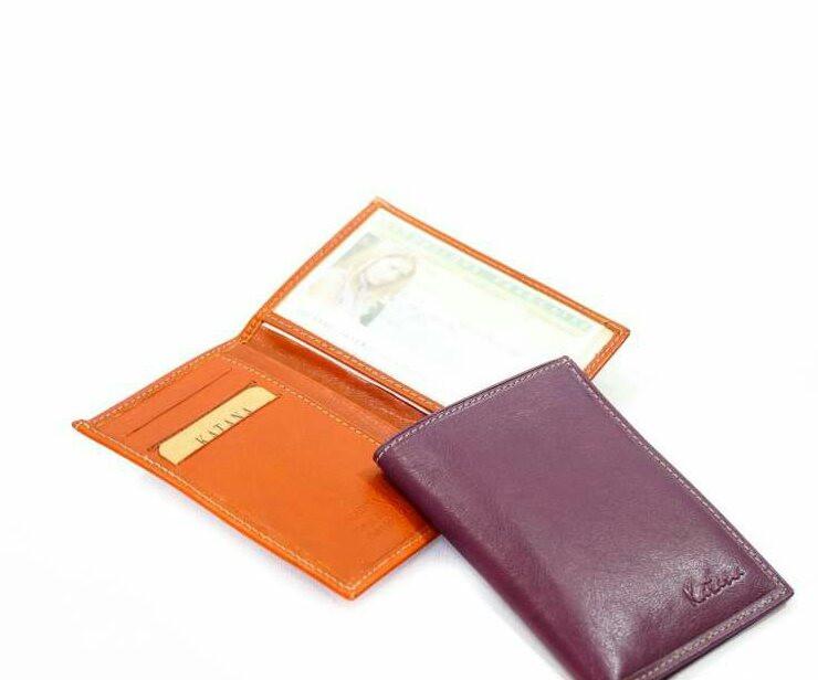 Кошелек катана женский кожаный фиолетовый 853090.