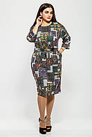 Нарядное женское платье Тэйлор серебро