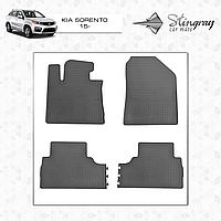 Коврики резиновые в салон Kia Sorento c 2015 (4шт) Stingray