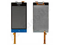 Дисплей для HTC A620e Windows Phone 8S Domino + touchscreen синий