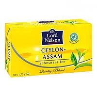 Черный чай Lord Nelson Ceylon Assam (50 пакетиков)