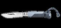 Нож Opinel 8 VRI Outdoor (серый)
