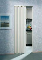 Складная дверь гармошка Eurostar 83x205, без стекла белый сатин