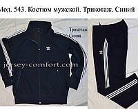 Спортивный костюм мужской, трикотаж.Мод. 543. Синий, фото 1