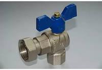 Кран шаровый угловой с накидной гакой для воды 1/2 х 1/2 ''SD FORTE''