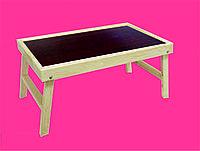 Столик для завтрака  для декора. (столешница цвета коричневое дерево 35х55см)