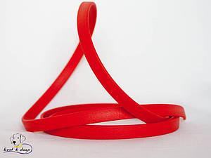 Поводок из биотана(Biothane) Красный 9,5мм