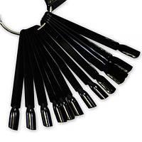 Веер для образцов на кольце на 50 типс, черный