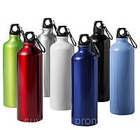 Шейкер/спортивная бутылка из алюминия, 500 ml, для спортпита и других напитков, разн. цвета