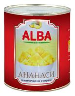"""Консервированные Ананасы """"ALBA FOOD"""", 580мл, кусочки"""