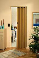 Складная дверь гармошка Eurostar 83x205, без стекла дуб