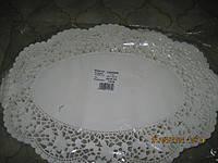 Салфетка ажурная  бумажная под торт овальная 26х36.100шт.Венгрия