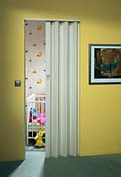 Складная дверь гармошка Eurostar 83x205, без стекла белый ясень
