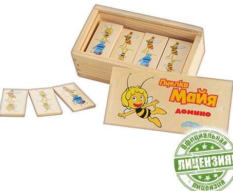 Деревянная игрушка Домино GT 6287 Пчелка Майя, в кор-ке, 14,5-8-5см 58958 Ч