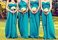 Платья подружек невесты 14 цветов, фото 1