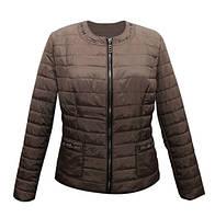 Куртка жакет женская тёмно-коричневая