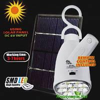 Лампа аккумуляторная с пультом GD-Light GD-5005HP и солнечной панелькой, фото 1