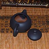 Чайник глиняный черный, 130 мл, фото 8