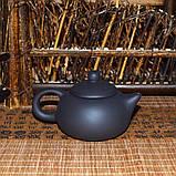 Чайник глиняный черный, 130 мл, фото 3