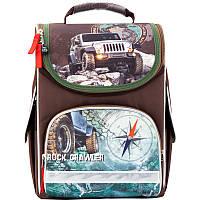 Рюкзак для мальчиков школьный каркасный (ранец) 501 Rock crawler K17-501S-4 Kite