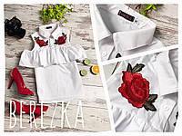 Красивая блузка с вышивкой , очень нарядная АМС-003.069
