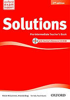 Solutions Pre-Intermediate 2 Edition Teacher's Book and CD-ROM Pack