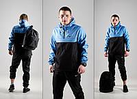 Мужская куртка анорак ветровка Nike на подкладке, фото 1