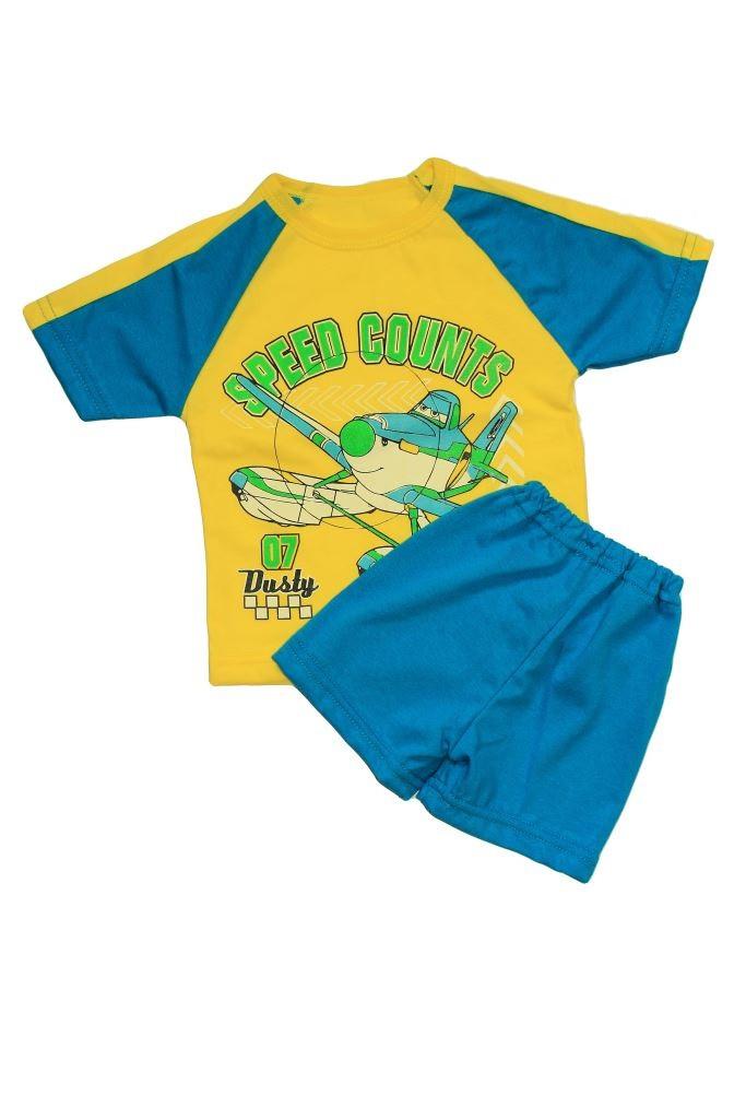 Летний комплект на мальчика Самолетик (шорты и майка)