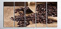 """Модульная картина на полотне """"Кофейные зерна в мешках"""""""
