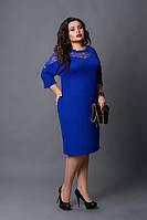 Платье  женское батал ,мод 508-3, електрик  размеры: 52-54, фото 1