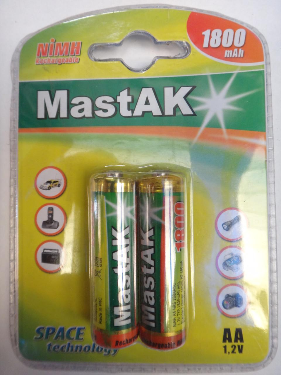 Аккумулятор AA 1800mAh 1.2v MastAK