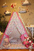 """Детский игровой домик, вигвам, палатка, шатер, шалаш """"Балерины в сердцах""""."""