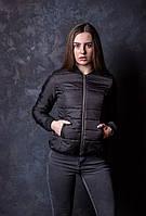 Женская куртка ветровка бомбер на силиконе