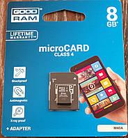 Карта памяти MicroSD 8Gb GoodRam Класс 4 Микро СД Карта на 8гб