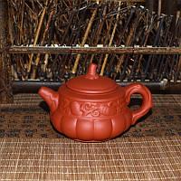 """Чайник из красной глины """"Тыква"""", 160 мл"""