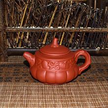 """Чайник з червоної глини """"Гарбуз"""", 160 мл"""