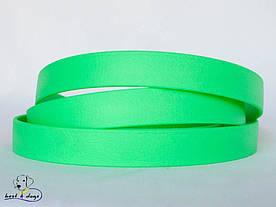Поводок из биотана(Biothane) Зеленый Неон 19мм