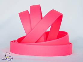 Поводок из биотана(Biothane) Розовый Неон 19мм