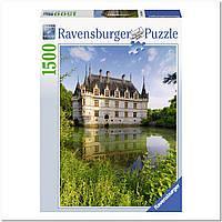"""Пазл """"Замок Азе-ле-Ридо, Франция"""" 1500 элементов, Ravensburger"""