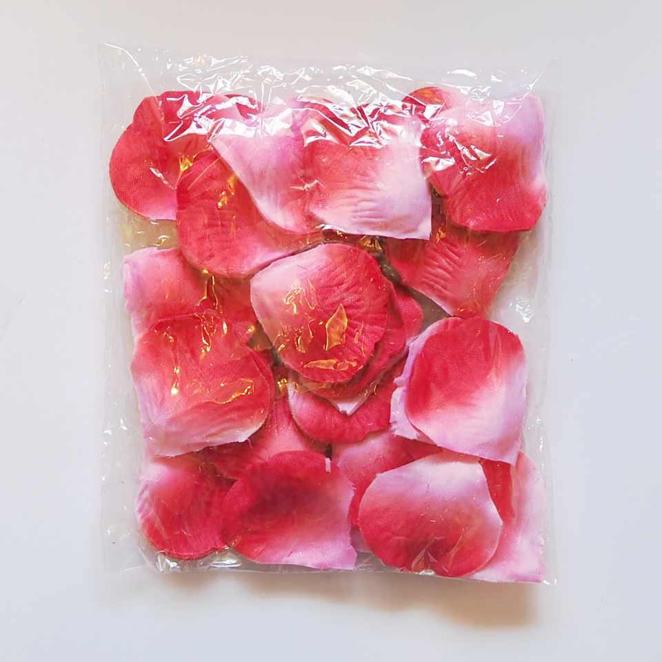 Лепестки роз искусственные (красно-розовые) 600 шт, фото 1