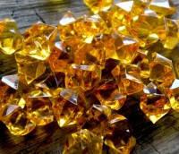 """Кристаллы """"Большие камни"""" осколки 1,5х1,5 см, 100 гр янтарные"""