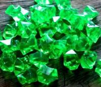 """Кристаллы """"Большие камни"""" осколки 1,5х1,5 см, 100 гр изумрудный"""