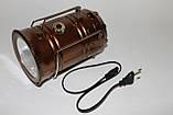 Фонарик 5800 на аккумуляторе Кэмпинговый 6+1 LED +солнечная зарядка, фото 2