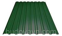 Профнастил ПС-12 зеленый